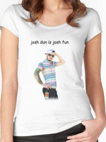 josh dun is josh fun Women's Fitted Scoop T-Shirt