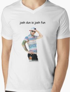 josh dun is josh fun Mens V-Neck T-Shirt
