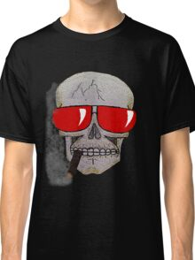 Cigar Smoking Skull w/ Red Sunglasses   Classic T-Shirt
