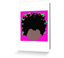 Psychedelic Dope Afro by Anne Winkler Greeting Card