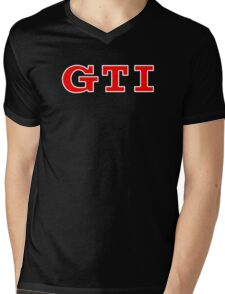 VW GTI Logo Mens V-Neck T-Shirt