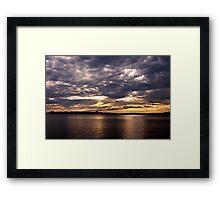 Sunset-Casco Bay Framed Print