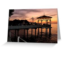 Sunset over Lake Constance-Bodensee Greeting Card