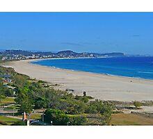 Looking north from Kirra Beach, Queensland, Australia Photographic Print