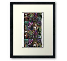 Dark Threads Blotter Art Framed Print