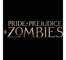 pride prejudice zombies story movie Photographic Print