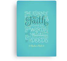 The Essence of Faith Canvas Print
