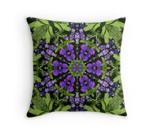 Beauty in purple and green Throw Pillow