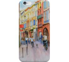 A narrow street in the old town of Toulouse in France. iPhone Case/Skin