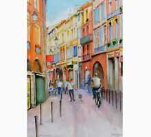 A narrow street in the old town of Toulouse in France. Unisex T-Shirt