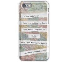 """""""Please Understand"""" iPhone Case/Skin"""