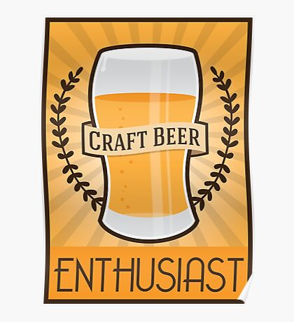 Craft Beer Enthusiast Poster
