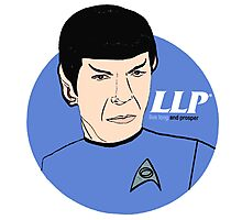 LLP - Live Long And Prosper Photographic Print