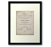 Civil War Maps 1104 Maps illustrating Gen'l Sherman's ''March to the sea'' and through the Carolinas and Virginia 03 Framed Print