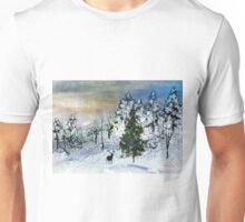 Deer in the snow... Unisex T-Shirt