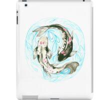 koi fish with flowers iPad Case/Skin