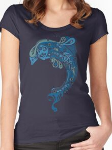 Cute Dolphin Women's Fitted Scoop T-Shirt