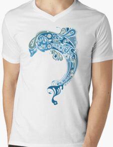 Cute Dolphin Mens V-Neck T-Shirt