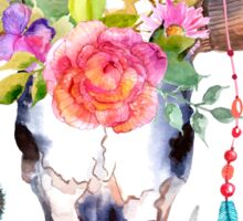 Bohemian watercolour bull's skull  Sticker