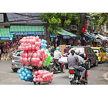 Scooter Carrying Coloured Balls Vietnam Photographic Print