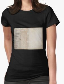 Civil War Maps 2145 Maps of Virginia Womens Fitted T-Shirt