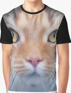 My cat is looking at me Graphic T-Shirt