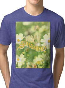 You Are My Sunshine Pretty Yellow Cosmos Flowers Tri-blend T-Shirt