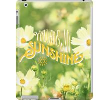You Are My Sunshine Pretty Yellow Cosmos Flowers iPad Case/Skin
