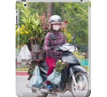 Scooter Lady Transports Flowers Hanoi Vietnam iPad Case/Skin
