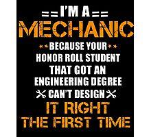 Mechanic Photographic Print