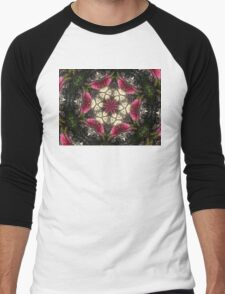 Bottle brush mandala Men's Baseball ¾ T-Shirt