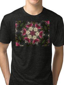 Bottle brush mandala Tri-blend T-Shirt