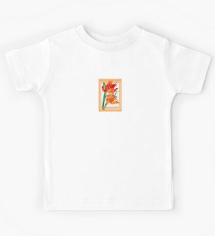 Birthday Wishes - Parrot Tulips Kids Tee