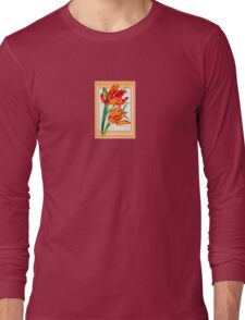 Birthday Wishes - Parrot Tulips Long Sleeve T-Shirt