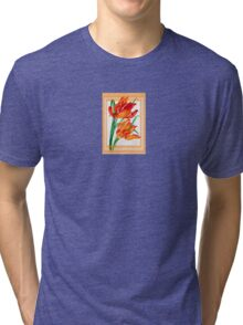 Birthday Wishes - Parrot Tulips Tri-blend T-Shirt