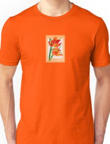 Birthday Wishes - Parrot Tulips Unisex T-Shirt