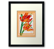 Birthday Wishes - Parrot Tulips Framed Print