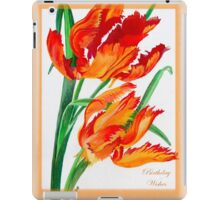 Birthday Wishes - Parrot Tulips iPad Case/Skin
