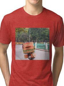 Scooter Cardboard Box Load Hanoi Tri-blend T-Shirt