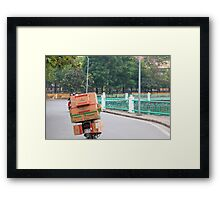 Scooter Cardboard Box Load Hanoi Framed Print