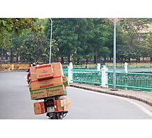Scooter Cardboard Box Load Hanoi Photographic Print