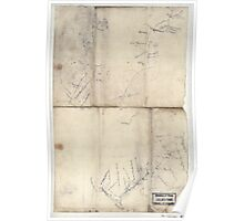 Civil War Maps 2236 Sketch of the road from Somerville to Jonas Run beyond Stevensburg in Culpeper County Va Poster