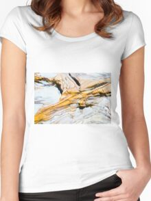 Australian rock formation background, sandstone texture Women's Fitted Scoop T-Shirt