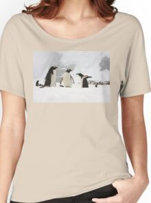 """Gentoo Penguins ~ """"Our World"""" Women's Relaxed Fit T-Shirt"""