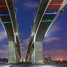 Under the Gateway - Brisbane Qld Australia by Beth  Wode