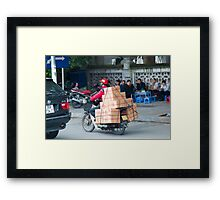 Scooter in Hanoi with Box Framed Print