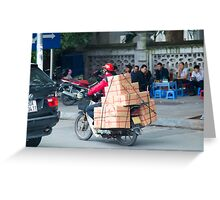 Scooter in Hanoi with Box Greeting Card