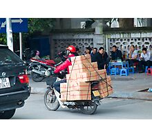 Scooter in Hanoi with Box Photographic Print