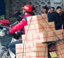Scooter in Hanoi with Box Sticker