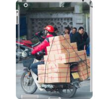Scooter in Hanoi with Box iPad Case/Skin